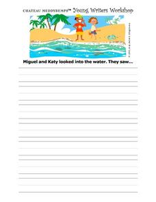 Story Starter--  Looking Into the Water Worksheet