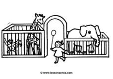 Zoo Drawing Worksheet