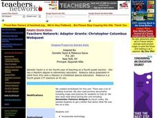 Christopher Columbus WebQuest Lesson Plan