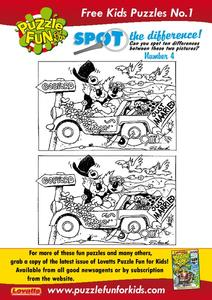 Puzzle Fun for Kids - Number 4 Worksheet