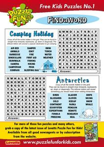 Puzzle Fun for Kids - Find a Word Worksheet