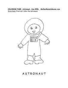 Astronaut Drawing Worksheet