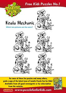 Koala Mechanic Lesson Plan