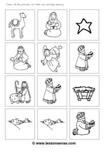 Christmas Memory Game Worksheet