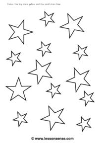 Big And Small Stars Worksheet