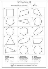 Name Each Shape Worksheet