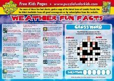 Weather Fun Facts Lesson Plan