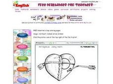 Broken Iron Heart With Key Worksheet