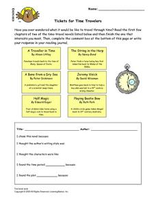 Tickets for Time Travelers Lesson Plan