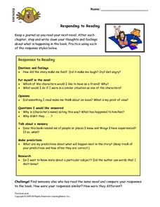 Responding To Reading Activities & Project