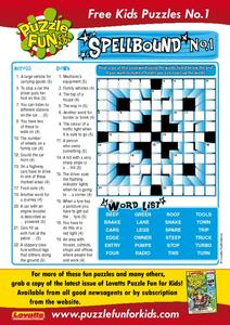 Crossword Puzzle About Cars Worksheet