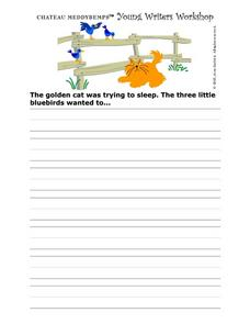 Story Starter--  Golden Cat Tries To Nap Writing Prompt