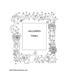 Halloween Poems Worksheet