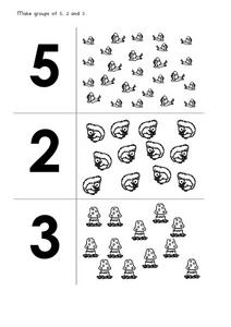 Make Groups of 5,2 And 3 Worksheet