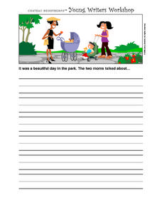 Story Starters-- Two Moms in the Park Worksheet