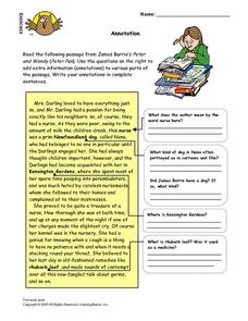Annotation Lesson Plan