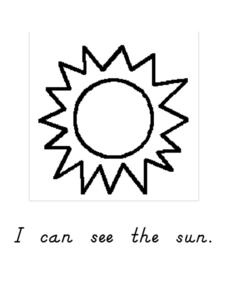 I Can See the Sun Worksheet