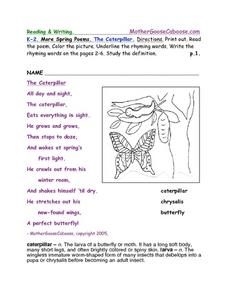 The Caterpillar Worksheet