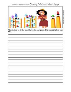 Young Writer's Workshop- Writing Prompt Worksheet- Rocks and Gems Writing Prompt