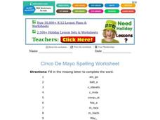 Cinco De Mayo Spelling Worksheet Worksheet