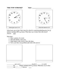 Time Story Worksheet Worksheet