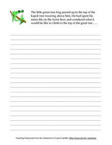 Story Starter-- Little Green Frog in a Kapok Tree Lesson Plan