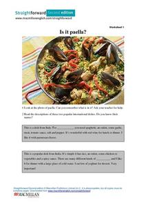 Is It Paella? (Parts 1 and 2) Worksheet