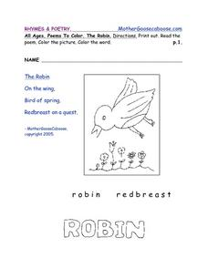 Poetry Book-- Small Creatures Worksheet