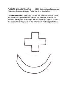 Crescent and Cross Worksheet