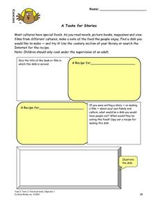 A Taste for Stories Lesson Plan