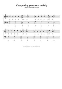 Compose Your Own Melody Worksheet