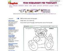 Bear Image Worksheet