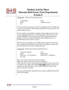Yeast Experiments Worksheet