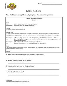 Building the Scene Lesson Plan