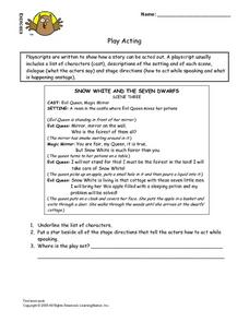Play Acting Lesson Plan