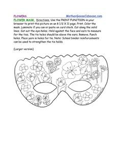Flower Mask Worksheet