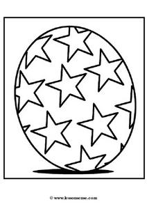 Egg Decorated With Stars Worksheet