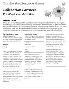 Pollination Partners Worksheet