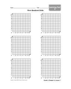 Irst-quadrant Grids Worksheet