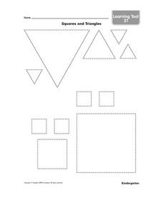 Squares and Triangles Worksheet