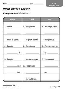What Covers Earth? Worksheet