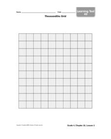 Thousandths Grid Worksheet