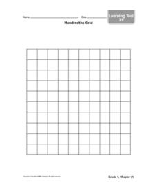Hundredths Grid Worksheet