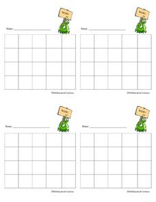 Four By Five Grids Worksheet