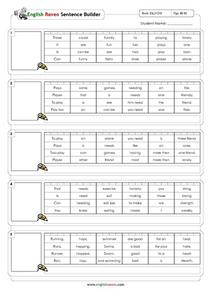 Sentence Builder for ESL Students Worksheet