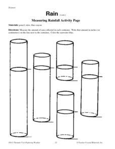Measuring Rainfall Activity Page Worksheet