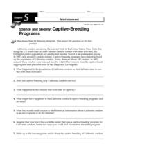 Captive-Breeding Programs Worksheet