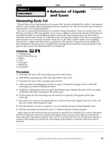 Measuring Body Fat Worksheet