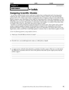 Designing Scientific Models Worksheet