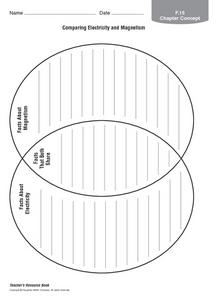 Comparing Electricity and Magnetism Graphic Organizer for